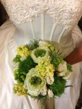 Greens and Whites Bridal Bouquet