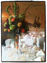 Grand Autumnal Guest Table Centerpiece
