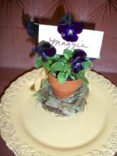 Pansy place setting